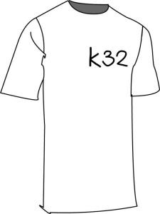 เสื้อยืดสีขาวK32